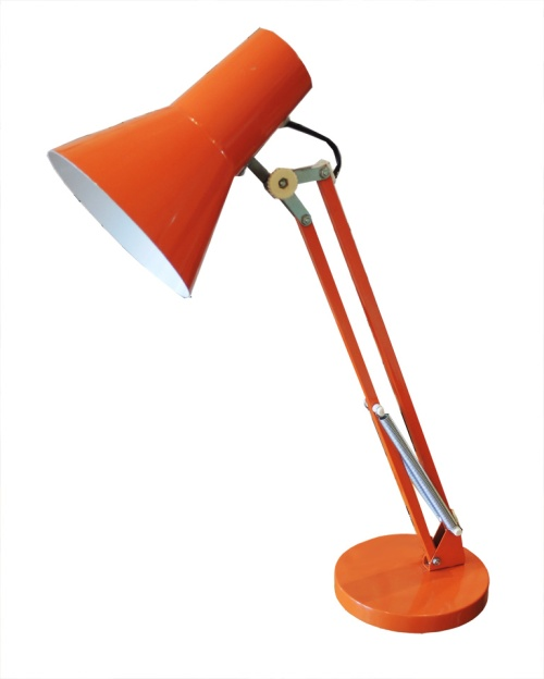 orange luxo lamp