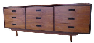 Teak Nine Drawer Dresser