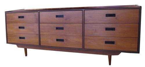 Teak Nine Drawer Dresser