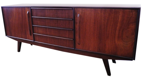 teak sideboard four drawers
