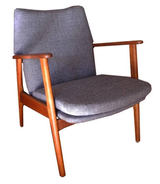 Upholstered Teak Side chair