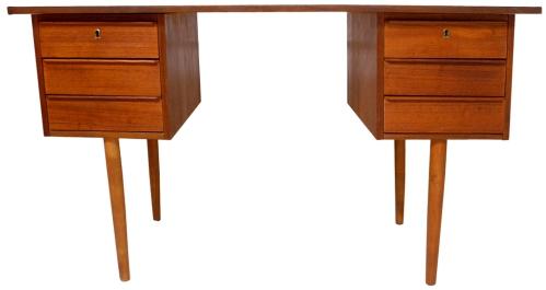 teak desk - LR