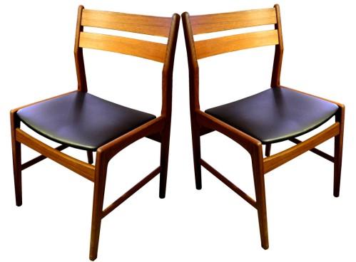 4 Danish Teak Dining chairs_LR