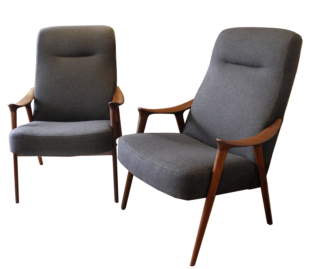 Pair Of Scandinavian Lounge Chairs INabstracto