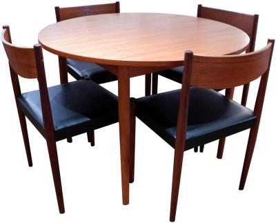 Round Teak Dining Set_LR