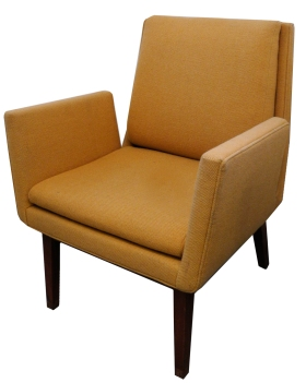 Upholstered Teak Side chair