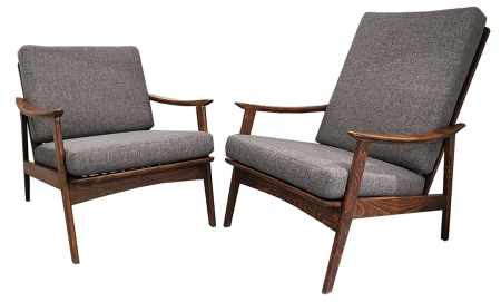 walnut louge chairs