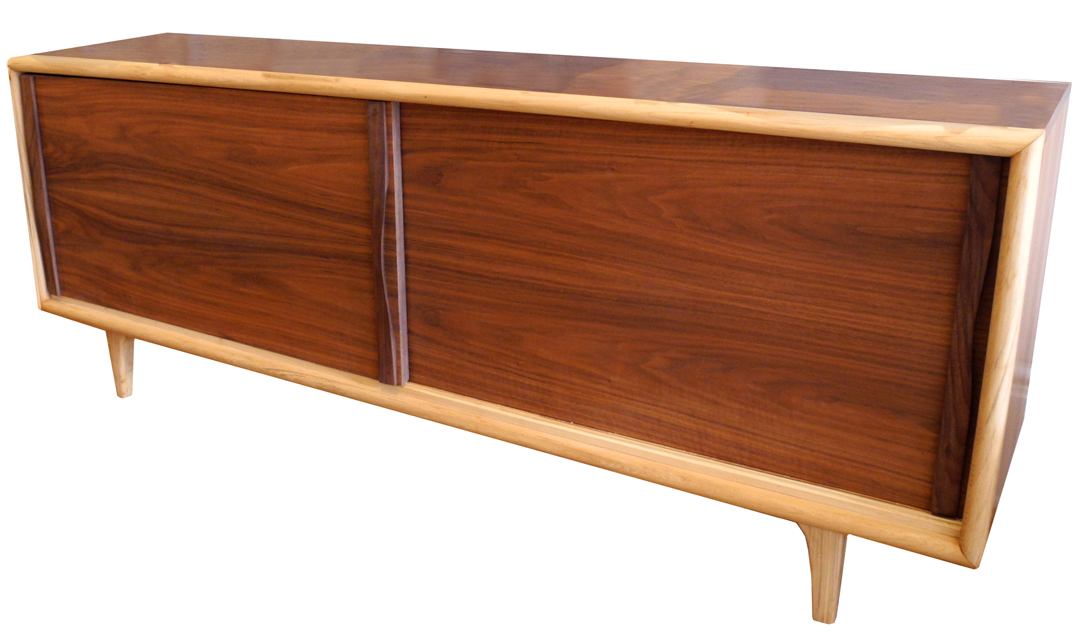 Mid century walnut and ash sideboard beautiful lines