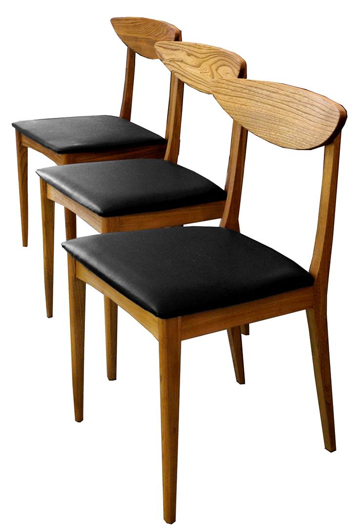 10 chairs lr set of six mid century birch