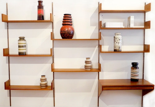 Modular Teak Shelving Unit