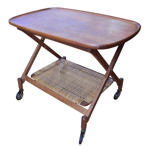 Teak and Cane Tea Trolley_LR