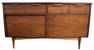 walnut 2 drawer dresser LR