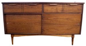 walnut 2 drawer dresser LR