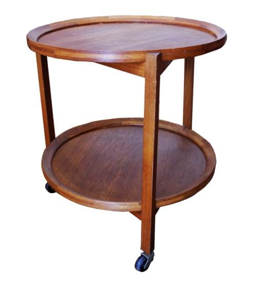 Round Teak Side Table