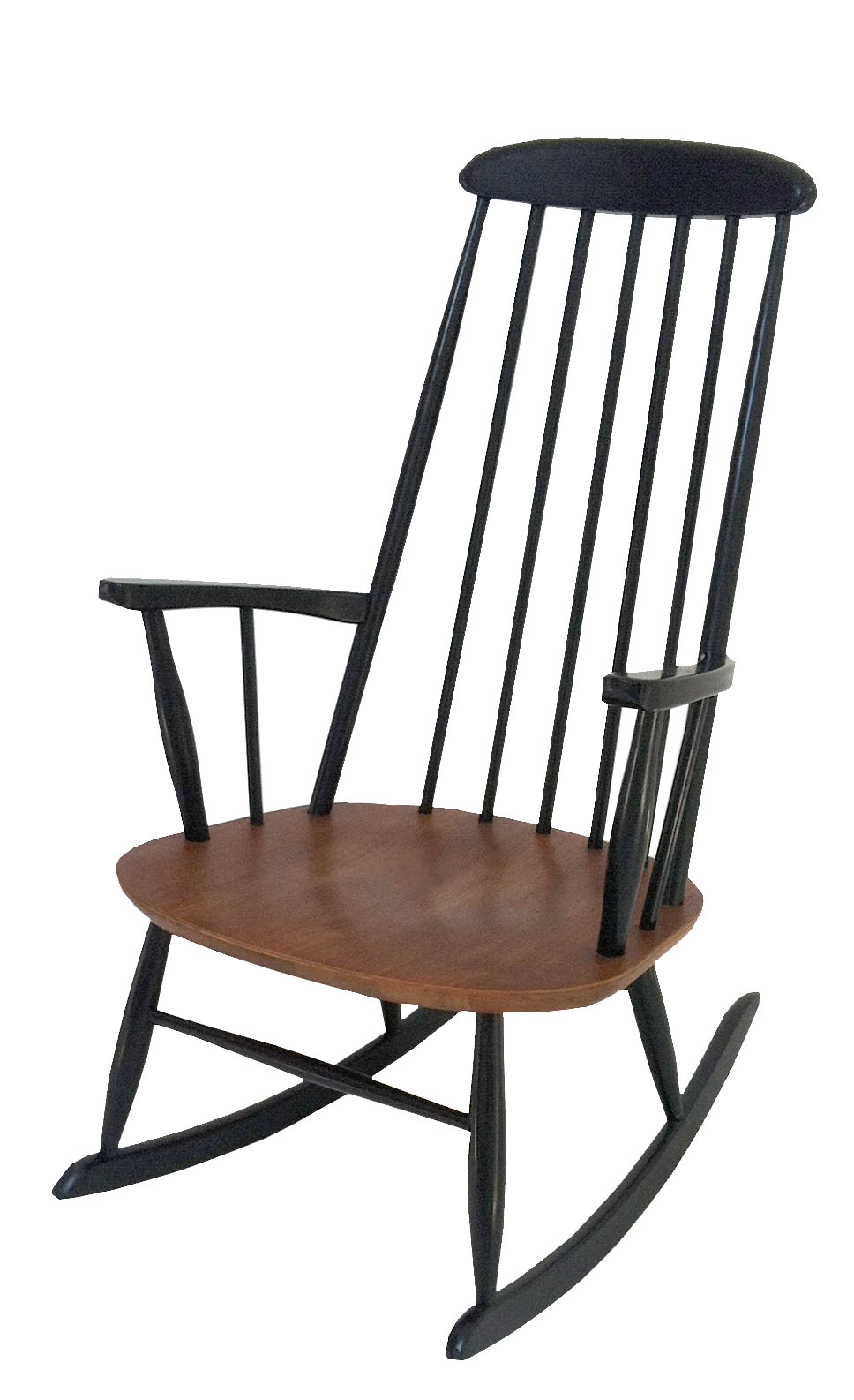 teak rocker in the style of ilmari tapiovaara sold inabstracto. Black Bedroom Furniture Sets. Home Design Ideas