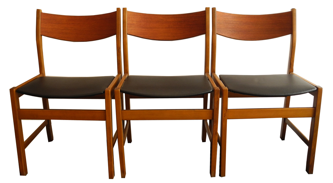 6 teak dining chairs LR