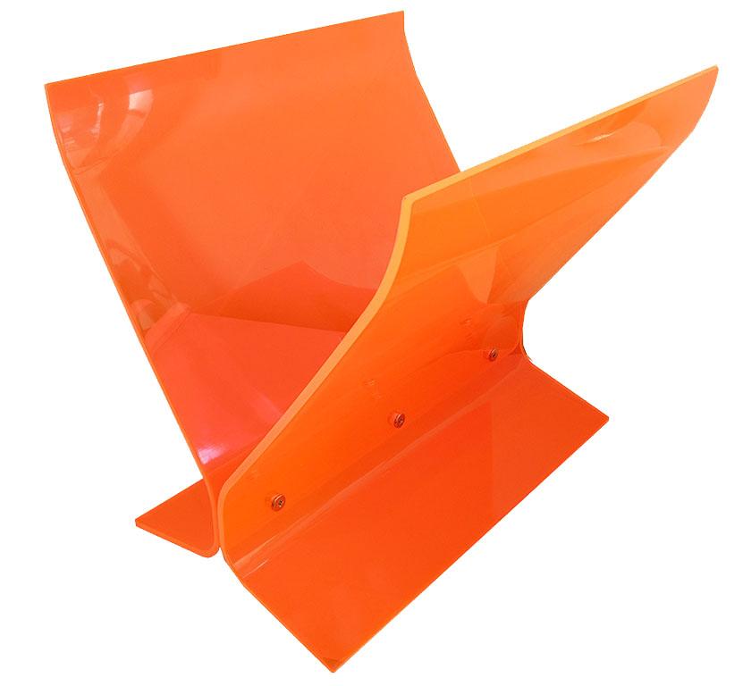 Neon Orange Pink Acrylic Magazine Rack Inabstracto Stunning Orange Magazine Holder