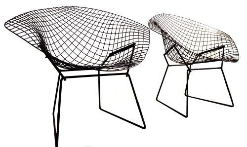 Black Bertoia Chairs copy