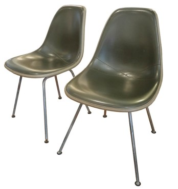 Eames Grn Vinyl Shell Chairs_LR