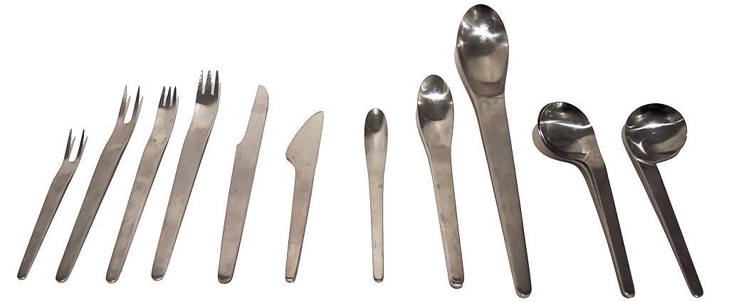 Arne jacobsen stainless steel flatware sold inabstracto - Arne jacobsen flatware ...