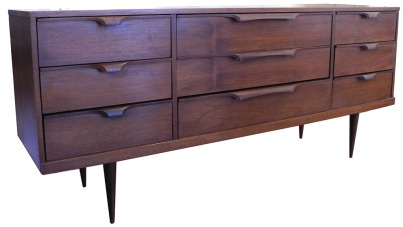 Mahogany and Walnut Dresser_LR