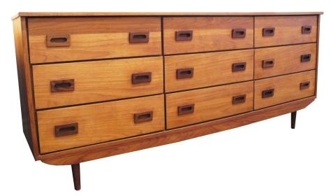 Teak Nine Drawer Dresser_May 15_LR