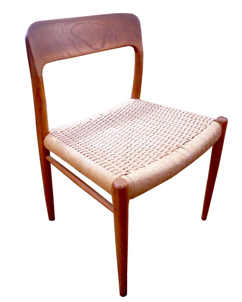 Teak and Cane Chair