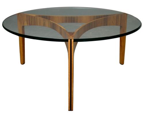 Sven Ellekaer Rosewood_Glass Table