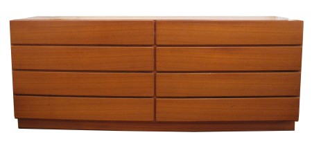 Teak Eight Drawer Dresser