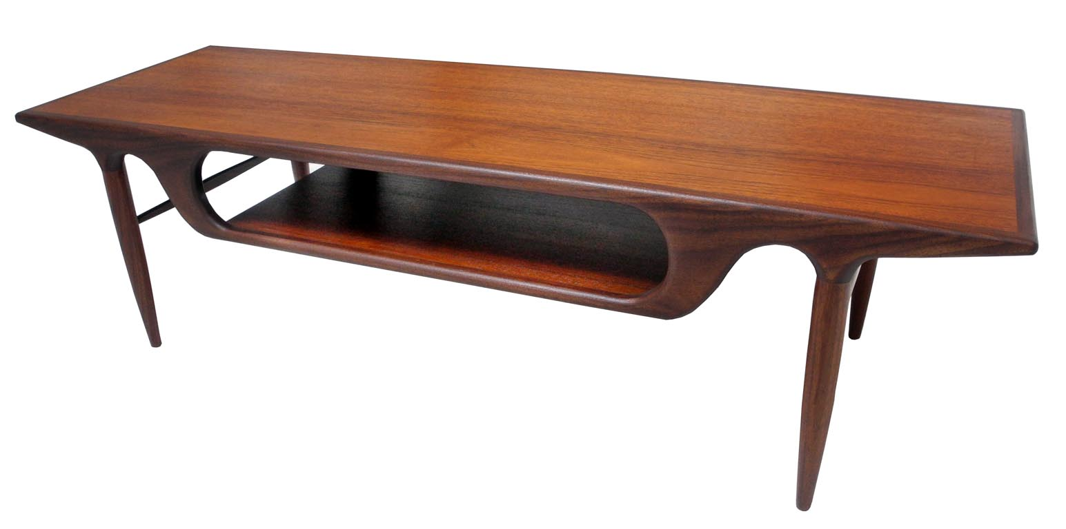 Danish teak coffee table inabstracto for Table table table