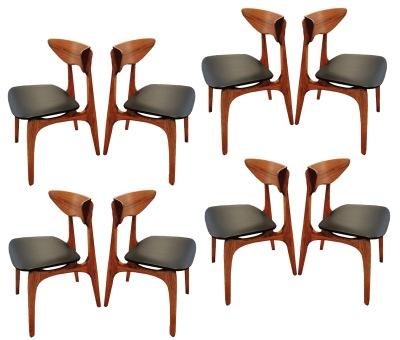8 walnut chairs