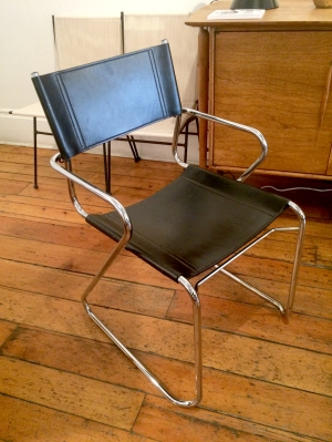 1980s Italian Chrome and Leather Dining Chairs: SOLD