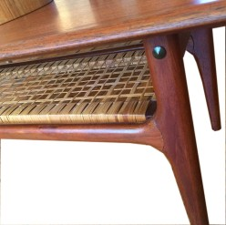 Teak Cane Table Detail