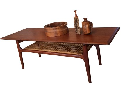 Teak_cane coffee table_2