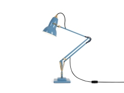 Original 1227 Brass Desk Lamp Dusty Blue 2